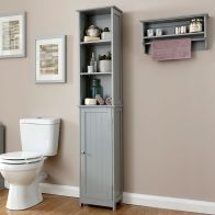 See more information about the Colonial MDF Slim Tall Grey 3 Shelf Cupboard