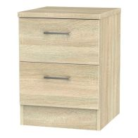 See more information about the Elmsett 2 Drawer Bedroom Bedside Cabinet Light Brown