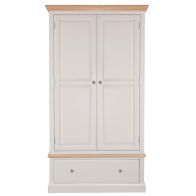 See more information about the Country Cottage Oak 2 Door 1 Drawer Large Wardrobe