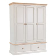 See more information about the Country Cottage Oak 3 Door 2 Drawer Wardrobe