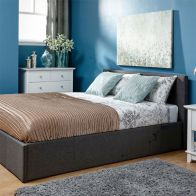 See more information about the Fabric King Size Bed 5ft Grey Ottoman Bed Frame