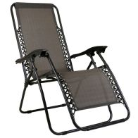 See more information about the Zero Gravity Folding Multi-Position Reclining Lounger - Grey