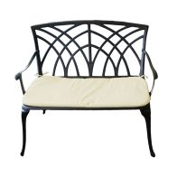 See more information about the 2 Seater Metal Cast Aluminium Garden Patio Bench