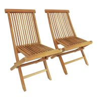 See more information about the Solid Wooden Tweak Folding Garden Patio Chairs 2 Set