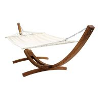 See more information about the Extra Large 2 Person Garden Hammock with Wooden Arc Stand Cream 4M
