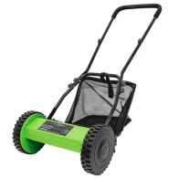 See more information about the Hand Push Lawn Mower 30cm Cutting Width Grass Collection Bag