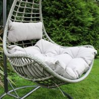 See more information about the Rattan Hanging Garden Swing Chair with Cushion Grey