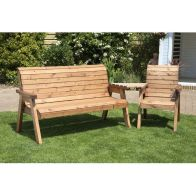 See more information about the 4 Seat Angled Tete-a-tete Companion Love Seat Garden Bench & Table