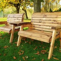 See more information about the 4 Seater Straight Traditional Scandinavian Redwood Garden Bench