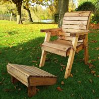 See more information about the One Seater Lounger Chair & Footstool Scandinavian Redwood Garden Set