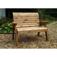 See more information about the 2 Seater Traditional Scandinavian Redwood Garden Bench