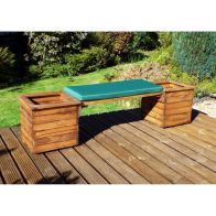 See more information about the 2 Seat Scandinavian Redwood Garden Planter Bench