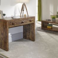 See more information about the Jakarta Melamine finish 3 Drawer Console Hallway Desk