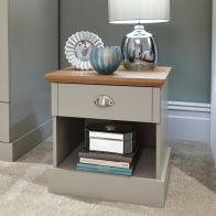 See more information about the Kendal 1 Drawer Bedside Table Grey