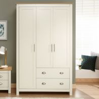 See more information about the Lancaster 3 Door 2 Drawer Wardrobe Cream