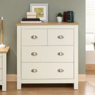 See more information about the Lancaster 4 Drawer Chest of Drawers Cream