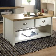 See more information about the Lancaster Cream 2 Drawer Coffee Table
