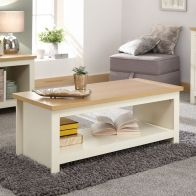 See more information about the Lancaster 1 Shelf Coffee Table Cream