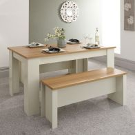 See more information about the Lancaster 150cm Dining Set Cream