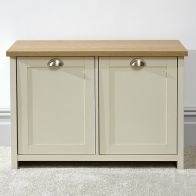 See more information about the Lancaster Cream 2 Door Shoe Storage Cabinet