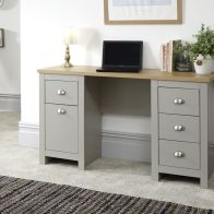 See more information about the Lancaster Grey 4 Drawer Study Desk