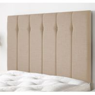 See more information about the Ambleside Weave Fabric Brown 5ft King Size Bed Headboard