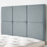 See more information about the Calder Weave Fabric Blue 5ft King Size Bed Headboard