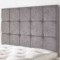 See more information about the Fairburn Velour Fabric Silver 5ft King Size Bed Headboard