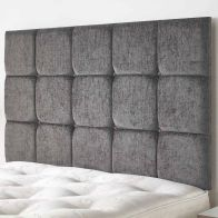 See more information about the Fairburn Velour Fabric Black 5ft King Size Bed Headboard