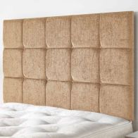 See more information about the Fairburn Velour Fabric Brown 5ft King Size Bed Headboard
