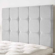 See more information about the Cambrian Linen Fabric Silver 5ft King Size Bed Headboard
