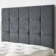 See more information about the Cambrian Linen Fabric Grey 5ft King Size Bed Headboard