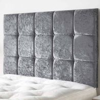 See more information about the Frampton Mirrazi Velvet Silver 5ft King Size Bed Headboard