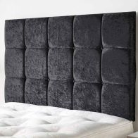 See more information about the Frampton Mirrazi Velvet Black 5ft King Size Bed Headboard