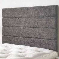 See more information about the Lune Velour Fabric Black 5ft King Size Bed Headboard