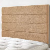 See more information about the Lune Velour Fabric Brown 5ft King Size Bed Headboard