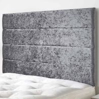 See more information about the Loxley Mirrazi Velvet Silver 5ft King Size Bed Headboard