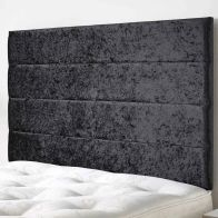 See more information about the Loxley Mirrazi Velvet Black 5ft King Size Bed Headboard