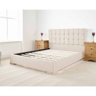 See more information about the Banks Upholstered Pine Cream 4ft 6in Double Bed Frame