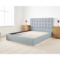 See more information about the Banks Upholstered Pine Blue 4ft 6in Double Bed Frame