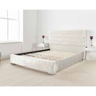 See more information about the Lanata Upholstered Pine Pearl 4ft 6in Double Bed Frame