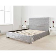 See more information about the Lanata Upholstered Pine Silver 4ft 6in Double Bed Frame