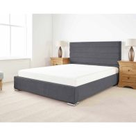 See more information about the Stocksmoor Upholstered Pine Grey 4ft 6in Double Bed Frame