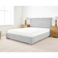 See more information about the Stocksmoor Upholstered Pine Silver 4ft 6in Double Bed Frame
