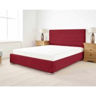 See more information about the Stocksmoor Upholstered Pine Red 4ft 6in Double Bed Frame