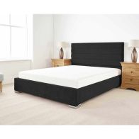 See more information about the Stocksmoor Upholstered Pine Black 4ft 6in Double Bed Frame