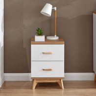 See more information about the Nordica 2 Drawer Bedside Table White