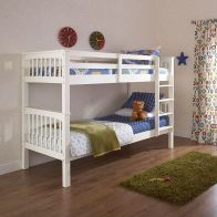 See more information about the Novaro Solid Pine Bunk Bed 3ft Painted White Bed Frame