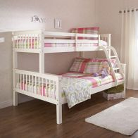 See more information about the Novaro Solid Pine Bunk Bed 3ft - 4ft 6in White Painted Trio Bed Frame