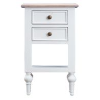 See more information about the Painted Oak 2 Drawer Side Table